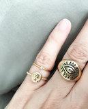 Ring R432 Gold 'Shine Bright' 2.0_
