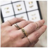 Ring R420 Gold 'Retangle'  _