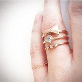 Ring R396 Rosé 'Steel Triangle' _
