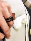Ring R486 Black 'Quatre Steel' _