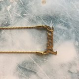 Peace Tekstketting Steel Gold 44+3cm