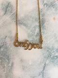 Onlyyou Tekstketting Steel Gold 44+3cm