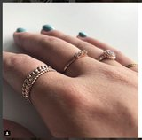 Charmin's ringen staal & rose