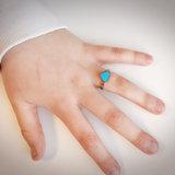 KR73 Heart Blue Shiny Steel_