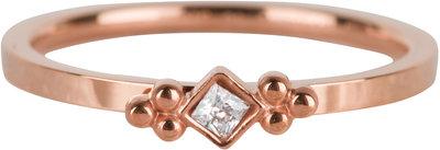 R617 Royal Square Rose Gold Steel Crystal CZ
