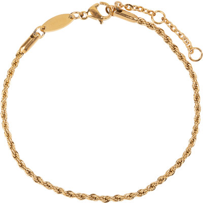 CB25 Twisted Bracelet Gold Steel