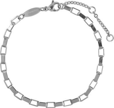 CB48 Rectangle Shackle Bracelet Shiny Steel