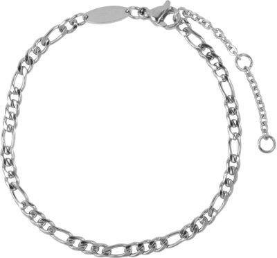 CB46 Figaro Bracelet Shiny Steel