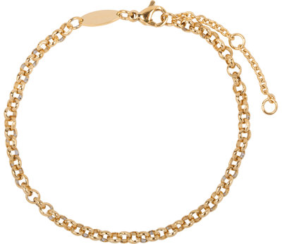 CB43 Round Shackle Bracelet Gold Steel