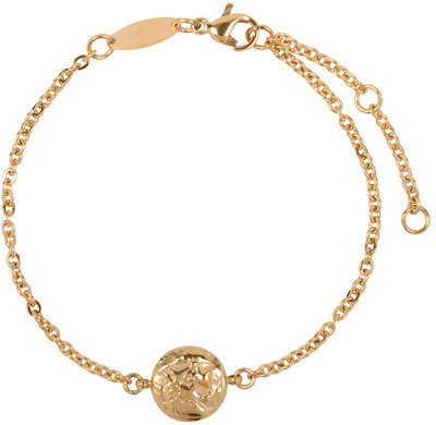 CB35 Coin of Power Bracelet Gold Steel