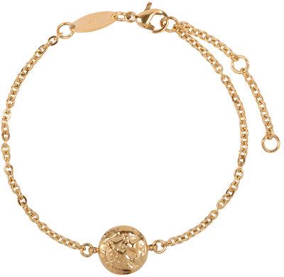 CB35 Coin of Power Bracelet Gold Steel