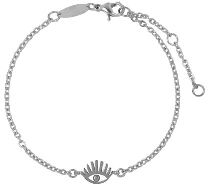 CB32 Lashes Bracelet Shiny Steel