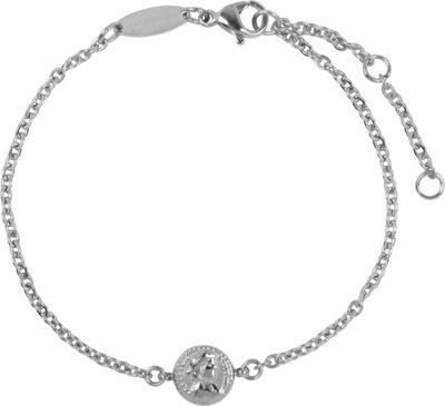 CB30 Roman Coin Bracelet Shiny Steel
