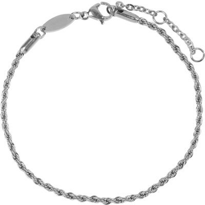 CB24 Twisted Bracelet Shiny Steel