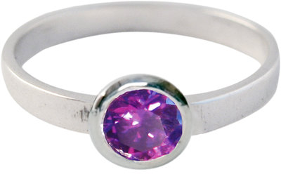 Ring KR02 'Round Diamond' Purple