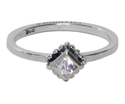 Ring R005 White 'Diamond Ace'