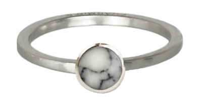 Ring R410 Zilver 'Marble Collection'