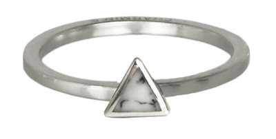 Ring R408 Zilver 'Marble Collection'
