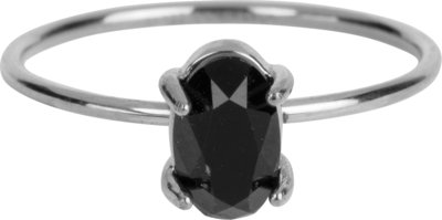 R651 Shine Big Shiny Steel Black CZ