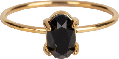 R652 Shine Big Gold Steel Black CZ