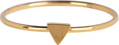 R723 Minimalist Triangle Gold Steel