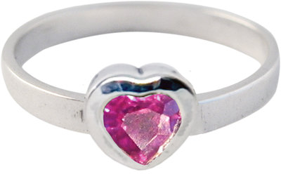 Ring KR10 'Crystal Love' Purple