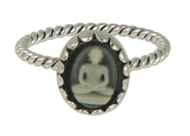 Ring R258 Black 'Cameo'