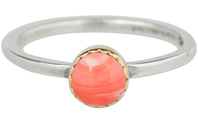 Ring R265 Natural Pink 'Goldtop'