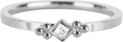 R615 Royal Square Shiny Steel Crystal CZ