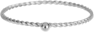 KR95 Dot Twisted Ring Steel