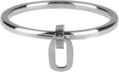 R706 Dangling Oval Shiny steel