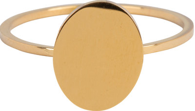 R715 Modern Oval Gold Steel