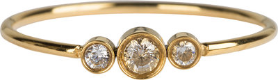 R825 Shiny Crystal Triplets Gold Steel
