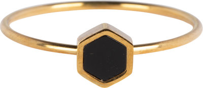 R711 Hexagram Gold Steel