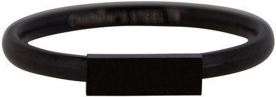 Ring R422 Black 'Retangle'