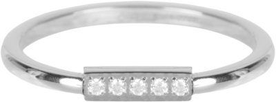 R540 Tube Crystal CZ Shiny Steel