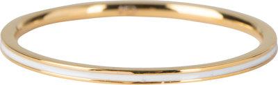 R697 Petite Gold Steel White Enamel