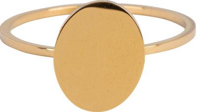 R715 Modern Oval Gold Steel