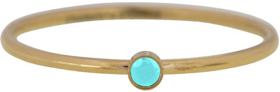 R789 Shine Bright  Turquoise  Gold Steel