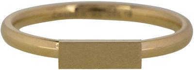 Ring R420 Gold 'Retangle'
