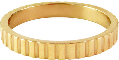 Ring R320 Gold 'Serrated'