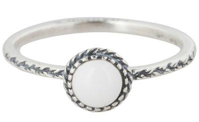 Ring R292 White 'Crown Nat Stone'