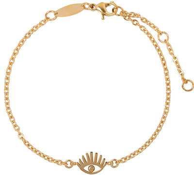 CB33 Lashes Bracelet Gold Steel