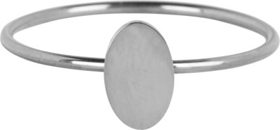 R718 Minimalist Oval Shiny Steel