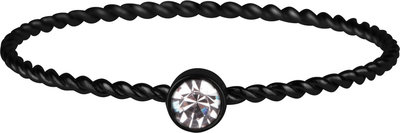 R947 Shine Bright Twisted Black and white crystal