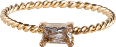 R768 Twisted Queen Crystal Gold Steel