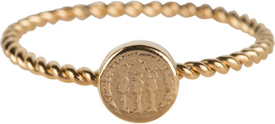 R627 Twisted Gold Steel Historic Coin staal Charmin's