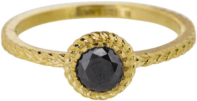 807 charmin's ring steel shiny iconic vintage gold
