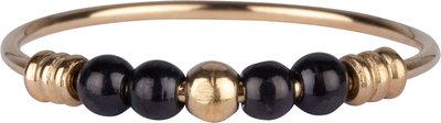 R942 Palm Gold & Black Ball Steel Charmin's