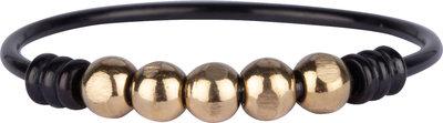 R943 Palm Black& Gold Ball Steel Charmin's